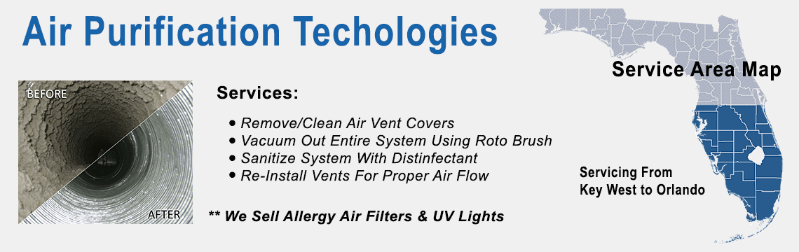 Air Duct Cleaning Service Area