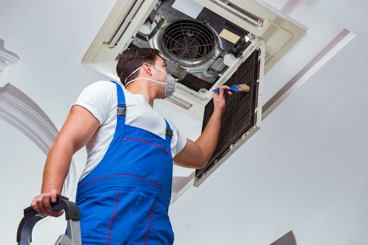 cleaning the air ducts